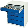 Bott Verso Drawer Cabinets - 800mm Wide x 900mm High - 5 Drawers