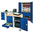 Bott Verso Mobile Storage Benches - 1250mm With Cupboard & 3 Drawers