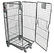 Palletower 4 Sided Mesh A-Base Nestable Roll Pallets - Zinc Plated