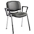 ISO Lexaire Vinyl Conference Armchairs Chrome Fram