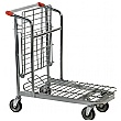 Palletower Nestable Stock Trolley With Folding Shelf