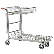Palletower Nestable Stock Trolley With Folding Basket