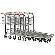 Palletower Nestable Stock Trolley With Fixed Basket