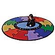 ABC Rainbow Puzzle Cut Pile Rugs