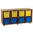 Essentials Mobile 8 Jumbo Tray Storage Units