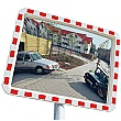 View Minder Rectangular Traffic Mirror