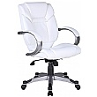 Fiji Leather Faced Manager Chair - White