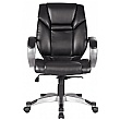 Fiji Leather Faced Manager Chair - Black