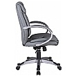 Fiji Leather Faced Manager Chair - Grey