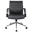 Identity Medium Back Leather Manager Chair