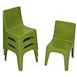 Jolly Kidz Resin Chair - Green