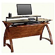 Spectrum Walnut Real Wood Veneer Computer Desk