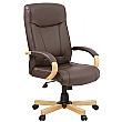 Farnham Brown Leather Office Chair