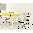 Lumiere Straight Desk Mounted Screens With Triple Tool Rail