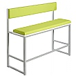 Unite High Bench With Upholstered Back and Seat
