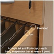 NEXT DAY Karbon Mobile Under Desk Wooden Pedestals