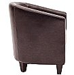 Paisley Bonded Leather Tub Chair