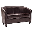 Paisley Bonded Leather Two Seater Sofas