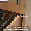 NEXT DAY Karbon K3 Rectangular Deluxe Cantilever Desk With Single Mobile Pedestal