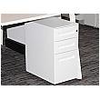 Prism Narrow Steel Mobile Pedestal - White