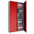 Phoenix SCL Series Steel Storage Cupboards - 2 Door 4 Shelf With Key Lock