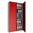 Phoenix SCL Series Steel Storage Cupboards - 2 Door 4 Shelf With Electronic Lock