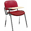 Swift Vinyl Conference Chair with Chrome Frame with Wooden Writing Tablet (Pack of 4 Chairs)