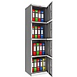 Phoenix SC Series Steel Storage Cupboards - 4 Door Cupboard With Key Lock
