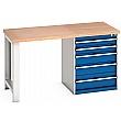 Bott Cubio Pedestal Benches - 5 Drawer 840mm High