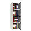 Phoenix SC Series Steel Storage Cupboards - 4 Door Cupboard With Electronic Lock