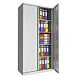 Phoenix SC Series Steel Storage Cupboards - 2 Door 4 Shelf With Key Lock