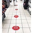 Safe Distance Floor Markers for Social Distancing With Text