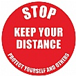 Safe Distance Floor Markers for Social Distancing Kit G - Text: STOP Keep Your Distance