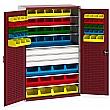 Bott Perfo Heavy Duty Bin Cupboard - 70 Bins / 3 Drawers