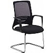 Raven Mesh Cantilever Visitor Chair