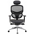 inSync 24 Hour Mesh Office Chair With Leather Seat & Headrest