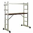 Sealey 4-Way Aluminium Scaffold Ladder - EN 131