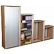 Karbon Tambour Door Wooden Office Cupboards