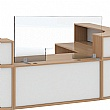 Armor Acrylic Freestanding Counter Top Screens