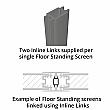 Defense Glazed Floor Standing Goalpost Screens