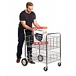 Chrome Plate Wire Basket Trolley