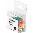 Box of 25 Coloured Push Pins