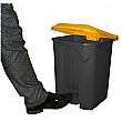 Hands Free Pedal Bins with Coloured Lids