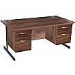 NEXT DAY Karbon K1 Rectangular Cantilever Office Desks with Double Fixed Pedestals