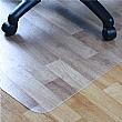 Hard Floor PVC Chair Mat Rectangular With Lip