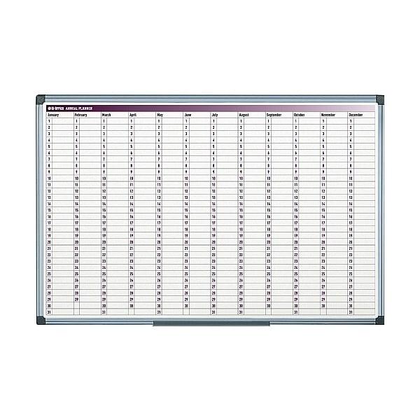 Magnetic Month Planner (Days) 60x90 Aluminium Frame Slim