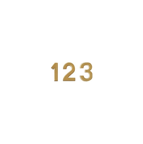264 Numbers 19mm Gold