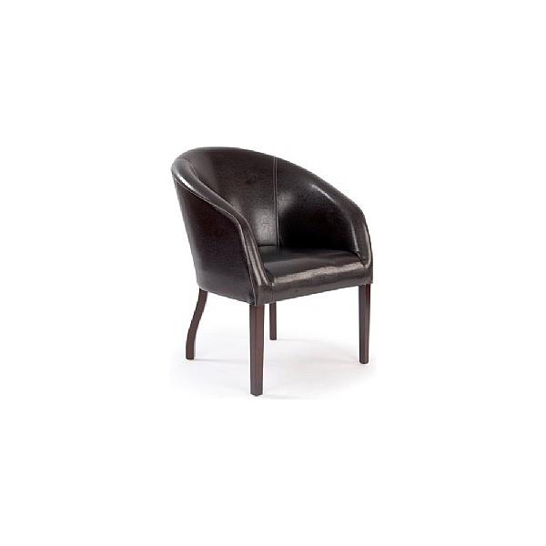 Devon Leather Look Armchair