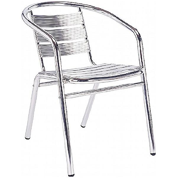 Aluminium Cafe Arm Chair
