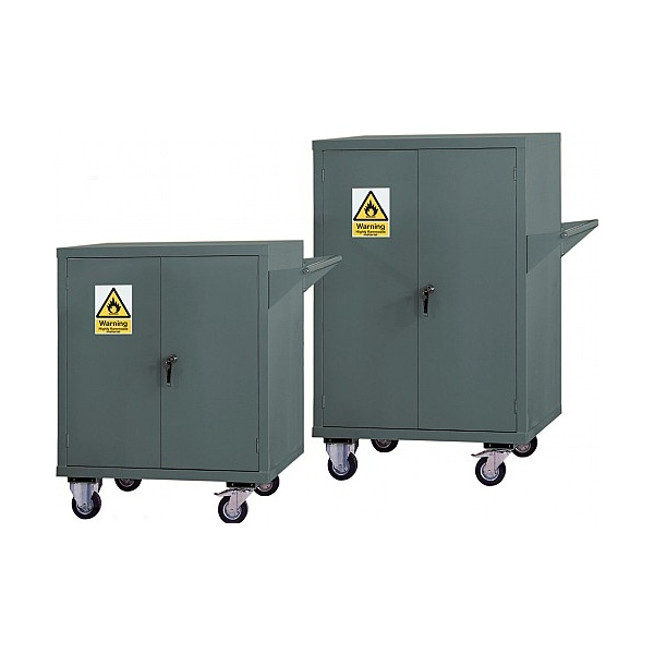 Mobile Flammable Storage Cupboards - Grey